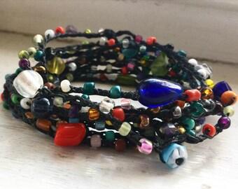 Tardy for the Partay: Versatile crocheted necklace / bracelet / belt / headband