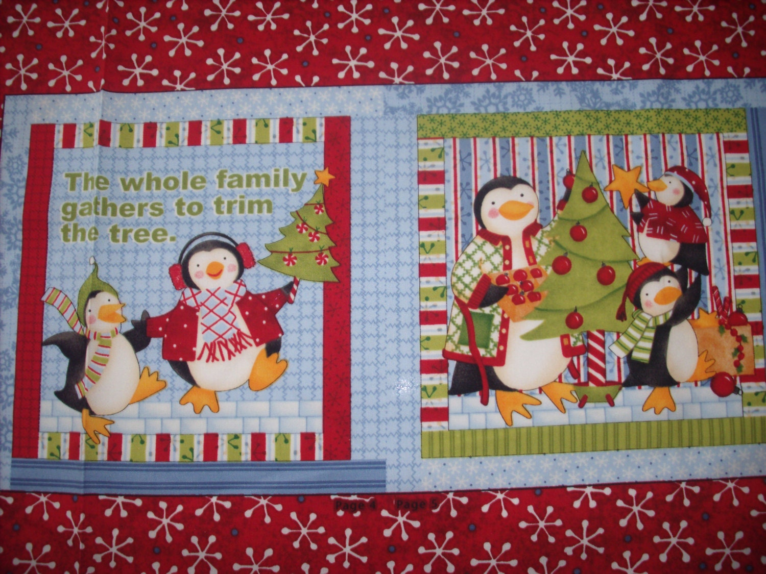 Cloth storybook panel to make family joy from Build storybook