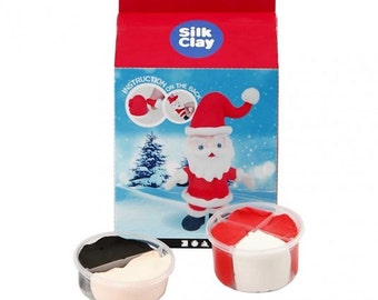Father Christmas Silk Clay Kit - Ornament Craft Model Sculpt Santa Claus - Children Gift
