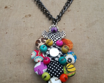 Chunky Funky Handcrafted Neckpiece with Repurposed Chain