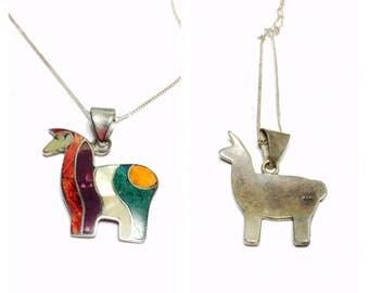 Vintage sterling silver Llama pendant, animal lover gift, item no. S141