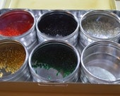 Metal Crafters Bead Storage Container with Seed Beads included, Jewelry Making, Artisan Storage, Stash Buster