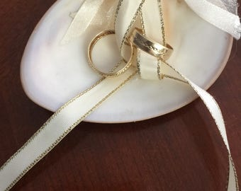 Wedding Shell, ring catcher, wedding ring holder, wedding ceremony rings, wedding beach Shell, Natura Shell wedding ring holder