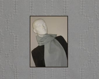 Bronson lace handwoven cotton scarf