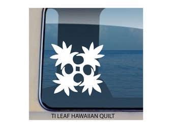 Quilt Ti Leaf Hawaiian Decal  c483