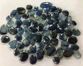 Blue Sapphire rosecut 19 carats 6x5mm to 11x10mm wholesale lot