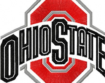 Ohio State Embroidered Iron On Patch