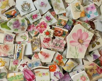 Mosaic Tiles FLOWERS Multicolor 115 pieces