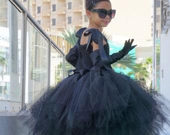 Audrey Hepburn Dress - Breakfast At Tiffany's - Audrey Hepburn tutu dress - Little Black Dress - Party Dress for Girls - Pageant Dress