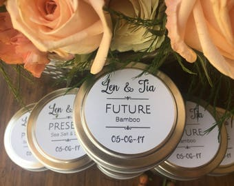 50 Soy tin candle favors wedding favors shower favors outdoor wedding lighting custom wedding favors Montana wedding Montana soy candles