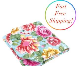 Flower Wallet, Small Womens Wallet, Travel Wallet, Minimalist Wallet Women, Fabric Wallet, Wallets For Women, Credit Card Wallet