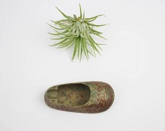Vintage Brass Slipper Ashtray - Ornate India Brass - Vintage Brass Shoe