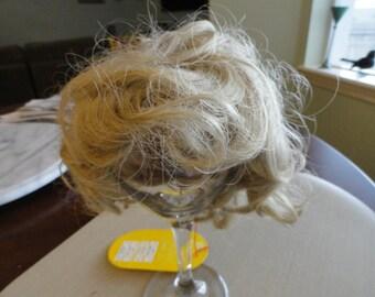 C639)  Vintage Doll Blonde Hair Wig Brittany Monique