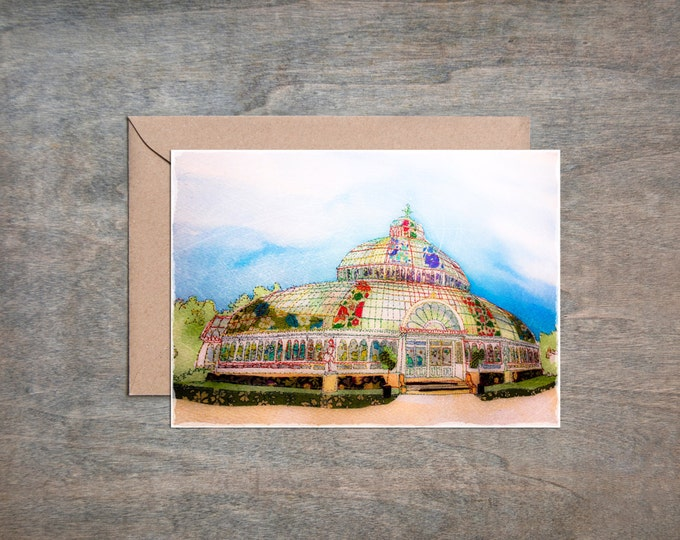 Palm House - Sefton Park - Liverpool - Botanical Gardens - Greetings Card - Blank Card