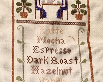 Coffee Time- Finished Cross Stitch