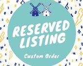 Reserved Listing for Derek/Pernille