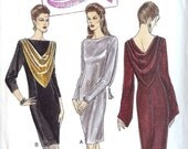 ON SALE NOW Pattern Vogue 9154 Straight Fitted Dress with neckline or sleeve variations Cut to Size 18