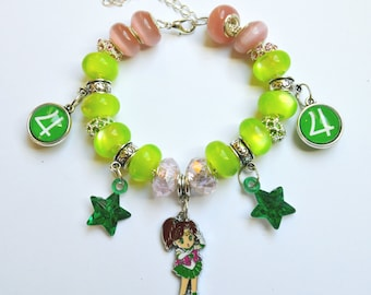 READY TO SHIP, Sailor Jupiter Bracelet