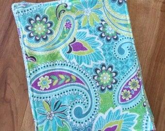 Wipes Unpaper Towels Reusable Paperless Paisley Flower Set of 4
