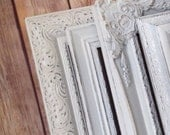 8x10 PICTURE FRAMES - white - custom - shabby chic set  - Glass and Backing - Tabletop and Wall Hanging