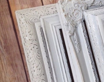 8x10 picture frames white custom color shabby chic set glass and backing