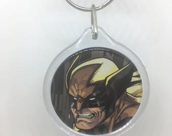 Upcycled Comic Book Keychain Featuring - Wolverine