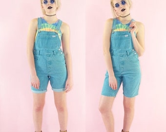 SALE Guess Early 90s Fitted Overalls, Vintage Dungarees, Light Blue Denim, Guess Georges Marciano, Women's Size 2, X-Small/ Small