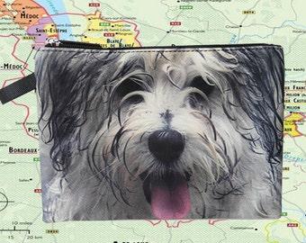 dog pouch,  dog pouch, dog purse, dog clutch, dog lover pouch, dog portrait pouch, dog makeup bag,MK 1613
