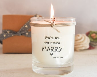 You're The One I Wanna Marry Scented Candle, Scented Candle, Proposal Candle, Will You Marry Me, Love Candle, Valentines Day Candle