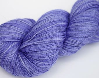 "Kettle Dyed Lace Yarn, Baby Alpaca, Silk, and Cashmere Lace Weight, in ""Wisteria"""