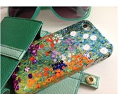 """Boxing Day Sale iPhone 5/5S, 6/6S, 6PLUS Case, Gustav Klimt's """"Bauerngarten"""" Painting. Flowers, Red and Green"""