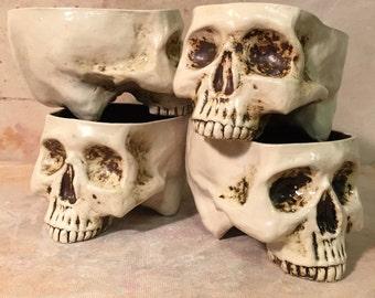 Ceramic Skull Mug SET of 4 - by Tony Furtado