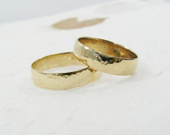 2 wedding band. 14k yellow gold 5 mm wedding band  men wedding ring, women wedding band, his hers wedding rings (gr-9131-663)
