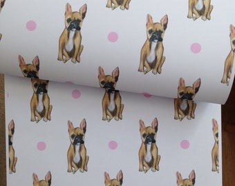 French bulldog , frenchie, bulldog, dog wrapping paper, gift wrap, for dog lovers, read description