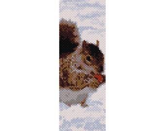 Squirrel Peyote Bead Pattern, Bracelet Pattern, Bookmark Pattern, Seed Beading Pattern Miyuki Delica Size 11 Beads - PDF Instant Download