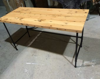Reclaimed Fir and steel pipe desk.