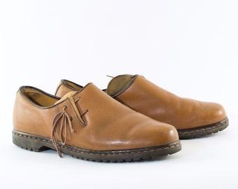 Vintage 90's Dr Martens Laced Tan Leather Shoes UK 10.5 EU 44.5 US 11.5