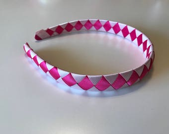 Hot Pink and Light Pink Woven Headband, Girls/Toddlers
