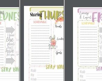 FLORAL Theme Planner Pages Sat-Sun