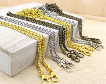 "1Piece 8mm wide Brass Purse Chain, 40cm /18"", 120cm/47"" for choice, handles Bag Chain - 120cm / 47 inch (T150)"