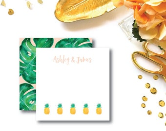 Love in Paradise Design | Stationery Notecards with Blank Envelopes | Pineapple and Palm | Printed by Darby Cards Collective