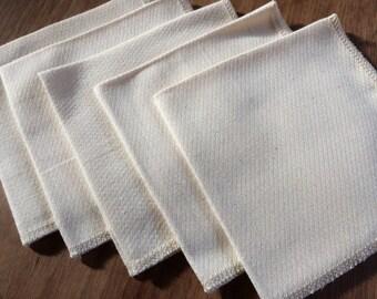 SAMPLE Organic Unpaper Towels, Organic Unbleached Cotton Birdseye Unpaper Towel, Reusable Unpaper Towel, SAMPLE