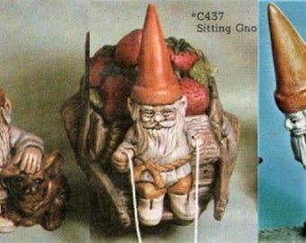 Ready to Paint Set of 3 Gnomes Fairy Garden Set of Dwarves Unpainted Ceramic Bisque You Paint Your Own U Paint Ceramic Bisque