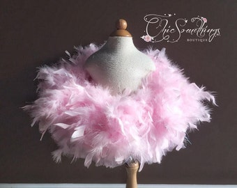 Feather tutu, pink feather tutu, first birthday tutu, baby tutu, feather tutus, feather costume tutu, tulle and feather tutu, custom tutu