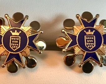 Very RARE SWANK Continental Collection Ornate Crest Cufflinks
