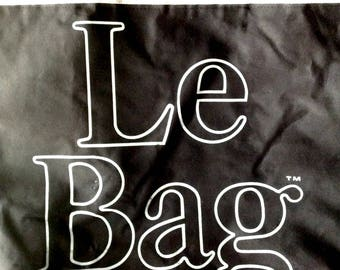 Vintage black Le Bag fabric tote large purse carry all