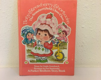 Vintage Book, Baby Strawberry Shortcake, The Strawberryland Choo Choo