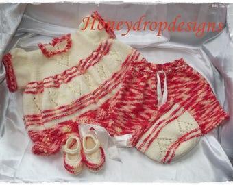 Sunset Baby Reborn Dress Knitting Pattern