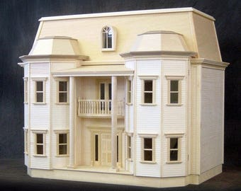 SPECIAL VALUE, Le Grande Chateau, A Fox Hall Manor Wooden Dollhouse Kit,  Conservatory & Room Addition are OPTIONAL, They are not included.