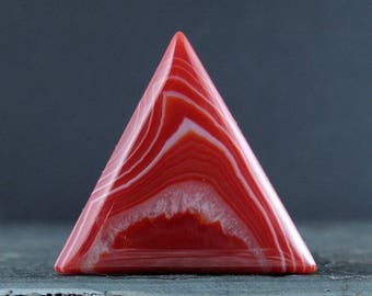 Fabulous  triangle orange agate, semiprecious stone,  Reversible,  Jewelry making Supplies S7675